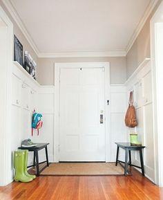 diy board and batten entry way coat hanger
