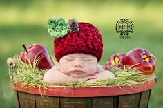 fall outdoors, newborn session, infant photography, fall baby, newborn photos, babi, hat, apple pies, newborn baby pictures