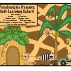 Jungle math learning safari math centers: This jungle/safari themed math unit is great for practicing numeric knowledge in a fun and practical way.  This unit is best for PreK, Kindergarten... 5.00