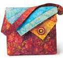 VIrginia Robertson designed this lovely bag for your laptop or IPad. Great color!  Instructions in the May/June issue of Love of Quilting