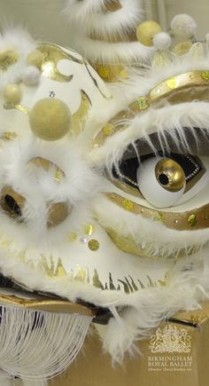Detail of Lion's head from Birmingham Royal Ballet's production of Aladdin.