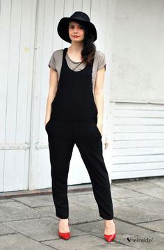 BLACK OVERALLS - Womens Fashion Clothing at Sheinside.com