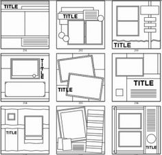 possible picture frame layouts or if i ever decide to scrapbook
