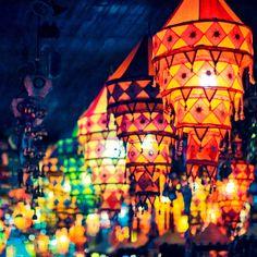 Dali, Yunnan, China  lantern shop, by tianxiaozhang