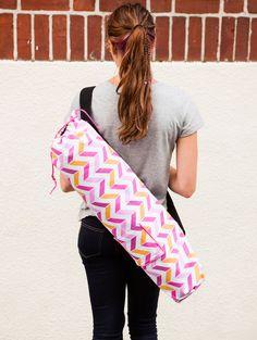 mat bag, yoga bag sewing, diy yoga bag
