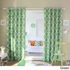Moroccan Tile Room Darkening Grommet Top 84-inch Curtain Panel Pair - Overstock™
