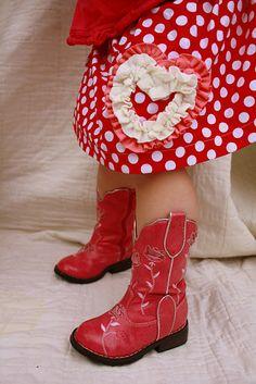 cute v-day skirt