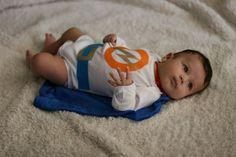 DIY baby superhero costume