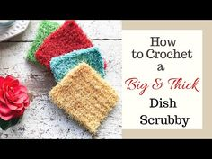These big & thick crochet dish scrubbies are the best scrubbies you'll ever use. Super easy to make iin less than 30 minutes. Plus they last a long time!