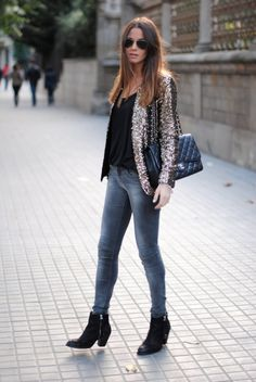 Sequin Jacket and Chanel