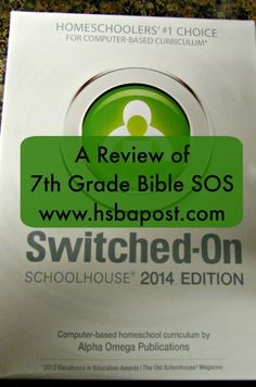 Alpha Omega SOS 7th grade Bible #hsreview