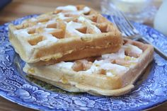 Whole Wheat Zucchini Waffles recipe by Barefeet In The Kitchen