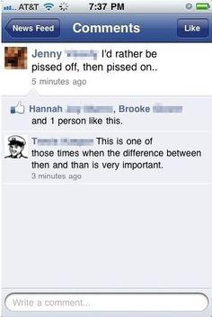 When grammar is important