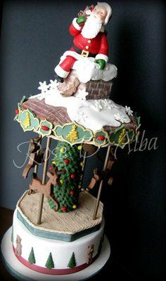 Santa Claus cake - by Rose D' Alba cake designer @ CakesDecor.com - cake decorating website