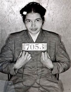 Rosa Parks  with prison number