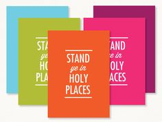 2013 Young Women Theme - Stand ye in Holy Places - Prints 4x6, 5x7, 8.5x11. $8.00, via Etsy.
