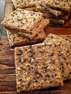 39 Vegan Crackers Recipes...gluten free also (a food dehydrator is needed)