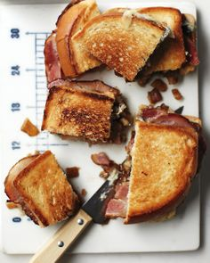Bacon–Blue Cheese Sandwiches with  Onion jam