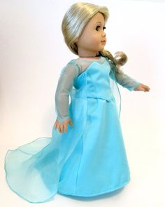 FROZEN Elsa Snow Queen Set  ORIGINAL  2-Piece Costume Outfit by DollhouseDesigns, $38.99 for American Girl Dolls Let it Go ***This is a preview of my upcoming Sewing PATTERN that will be available in mid April