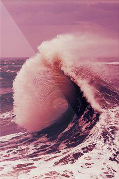 surfs up, beach waves, the wave, color, the ocean, ocean waves, sea, pink, beach life