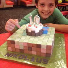 Minecraft cake by Cara