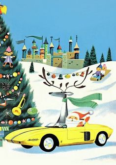 Christmas at the Rotunda/Ford Rotunda Christmas Book (Ford Motor Company) 1961. Illustration: Richard Scarry.