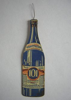 Antique Advertising Figural Bottle Sewing Needle Threader