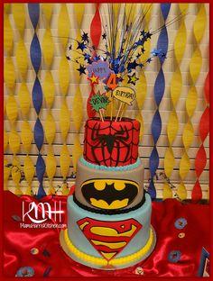 Superhero Birthday Party, DIY cake topper