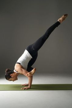 I might be able to do this with a headstand, trying.