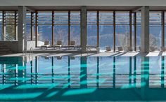 Pool at Kulm Hotel in St. Moritz