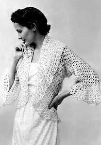 Free crochet pattern for Draped Bed Jacket. Be sure to READ entire pattern before beginning project. I like how this is constructed.