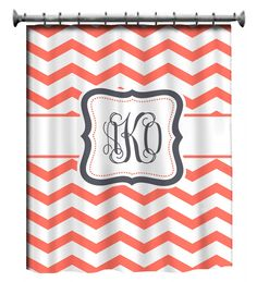 monogrammed shower curtain  LOVE!