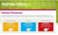 Save time in the kitchen with these 3 new #MyPlate videos! #timesavers #cooking #shortcuts