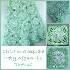 Circle In a Square Baby Afghan | Free Crochet Pattern