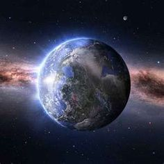 He stretches out the north over empty space and hangs the Earth on nothing.  Job26:7