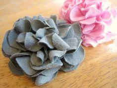 jersey knit flowers - no sew!
