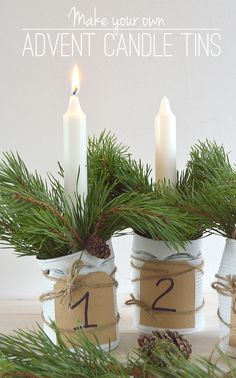 DIY Advent Candle Tins