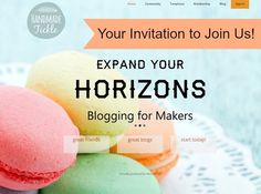 Your Invitation to Join Us on Handmade Tickle! - Blogging for Makers! l EverythingEtsy.com #blogging #etsy