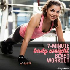 Try this 7 Minute Body Weight Blast Workout! It is quick and effective!  #bodyweight #workout #fatblaster