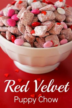 SO Addictive! Red Velvet Puppy Chow Recipe