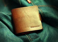 DISSIDENT Leather Wallet  $120