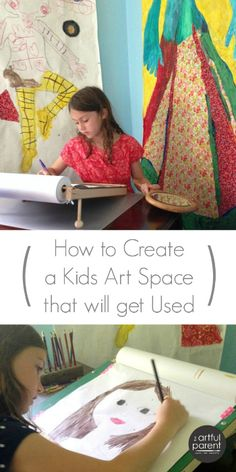 How to create a kids art space that will get used with advice on choosing a location, making an art space outpost with an art caddy, and a resource list.