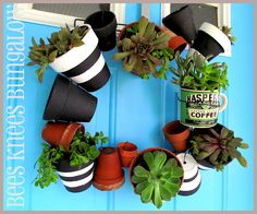 {Bees Knees Bungalow}: The Pot Wreath - BKB Style & Tutorial