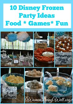 10 Disney Frozen Party Ideas - Food, Games and Fun! - Women Living Well