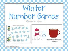 Winter Math Games - 5 ways to play to work on #s 1-20