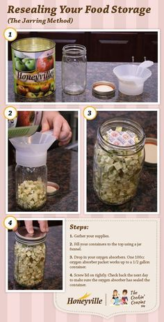 Steps to Resealing Your Food Storage.
