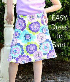 dress to skirt, little girl dresses