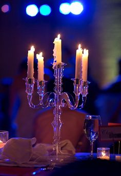 lucite candleabra