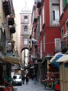 Via San Gregorio Armeno, Naples, Campania, Italy