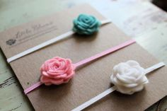 Felt Flower Headbands pick 3 colors by LittleBloomsHandmade